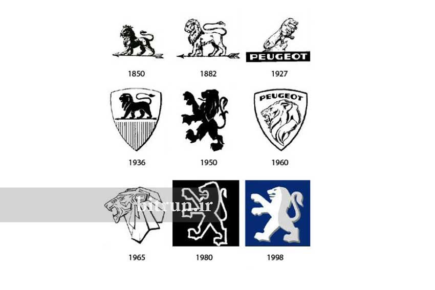لوگوی شرکت های خودروسازی پژو