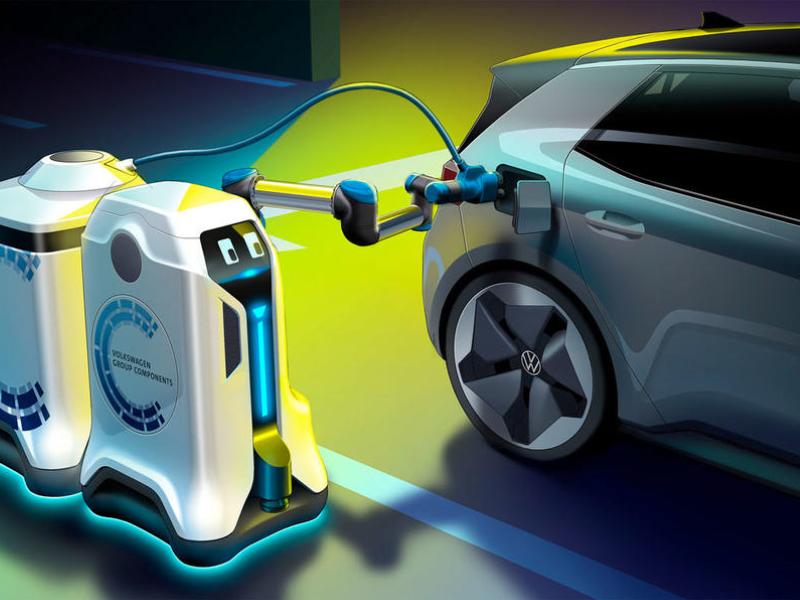ربات سیار فولکس واگن انقلابی در شارژ خودروهای الکتریکی به وجود خواهد آورد