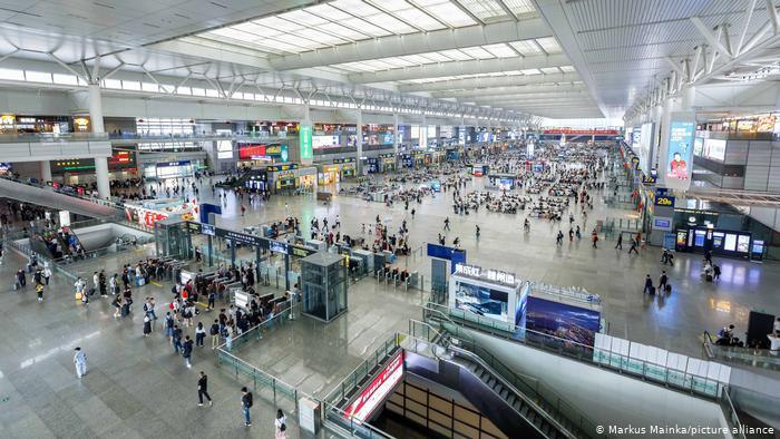 بزرگترین ایستگاه قطار جهان / عکس ایستگاه شانگهای چین
