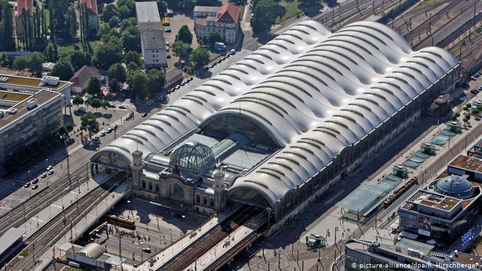 بزرگترین ایستگاه قطار جهان / عکس ایستگاه درسدن آلمان
