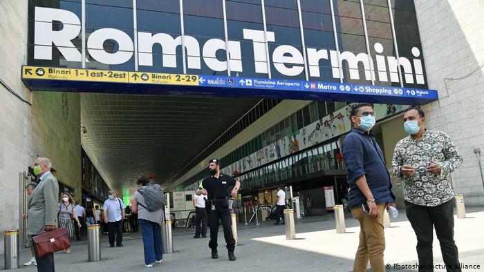 بزرگترین ایستگاه قطار جهان / عکس ایستگاه رم ایتالیا