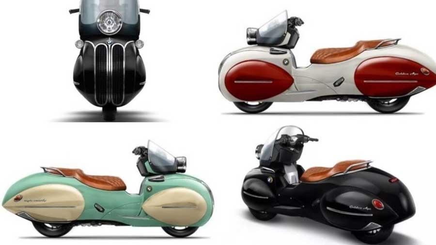 موتورسیکلت بی ام و با طرح وسپا